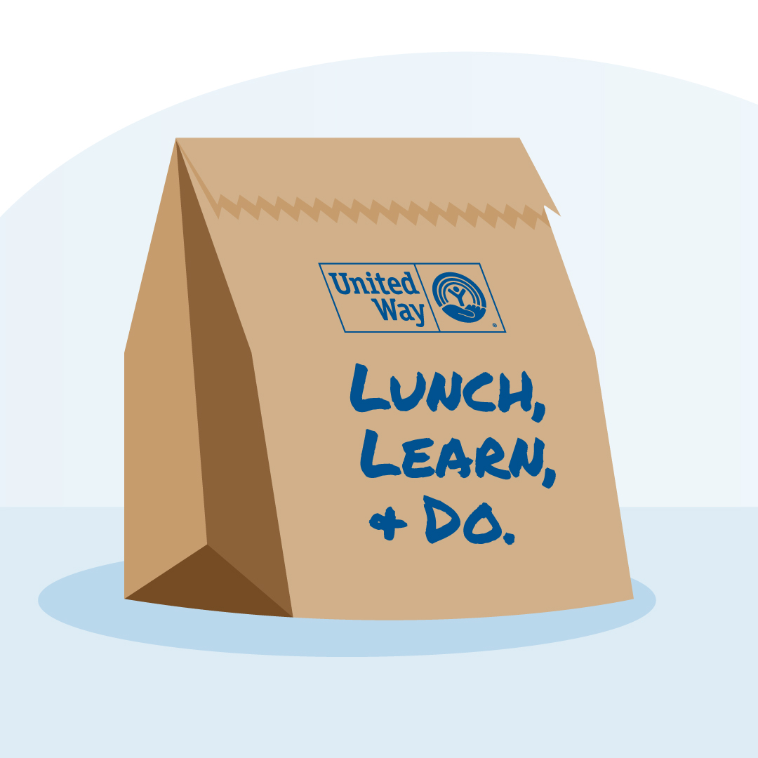 Image: Lunch, learn and do lunch bag.