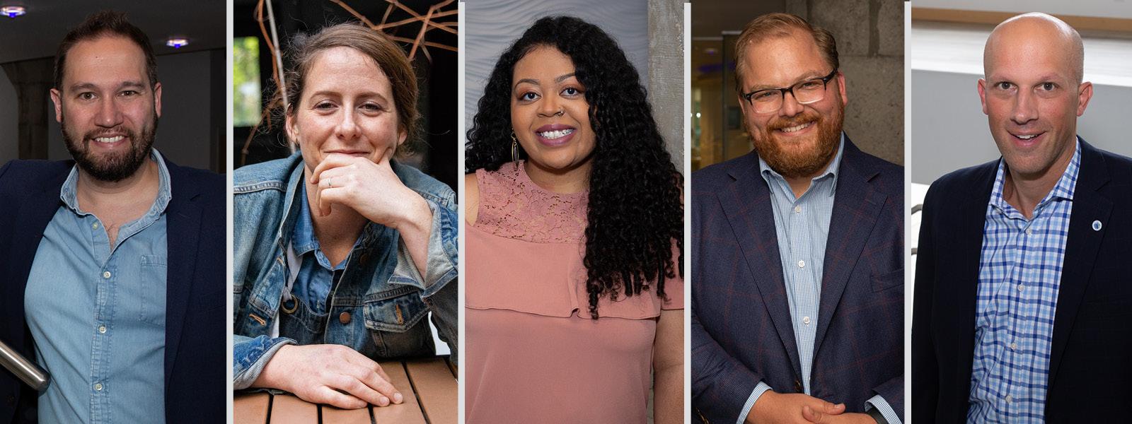 Photos of 2021 Philanthropic award winners.